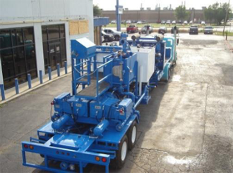 Drop Deck Trailer-Mounted Twin Cement Pumping